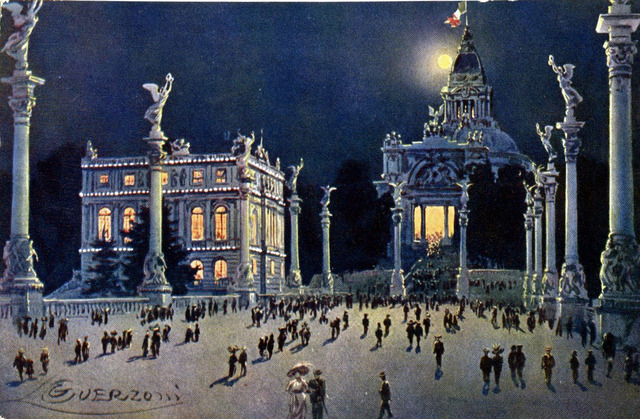 Vintage World's Fair postcard - Turin (1911)