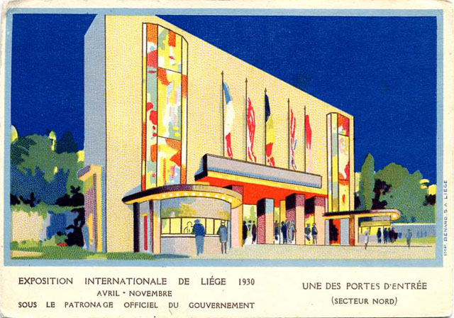 Vintage World's Fair postcard - Liège (1930)