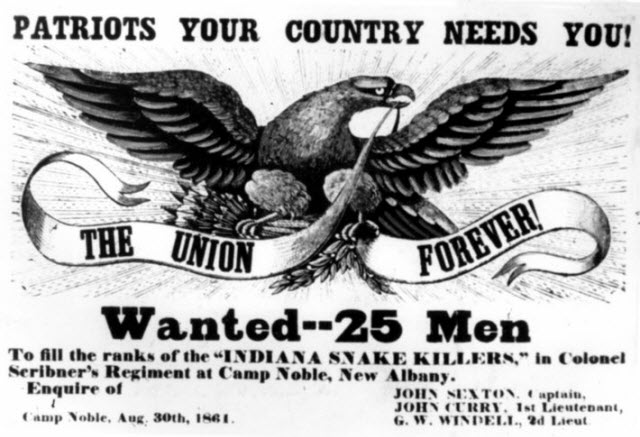 Civil War Union recruitment poster