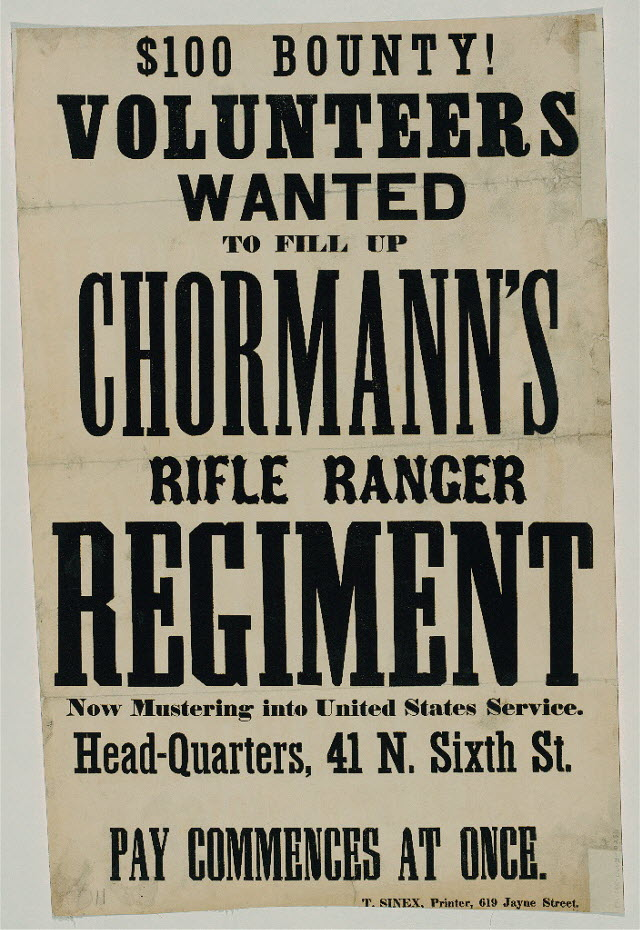 Civil War recruiting poster