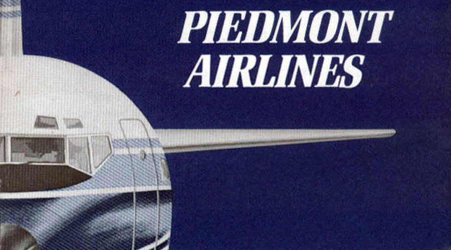 Piedmont Airlines Ticket Jacket, 1969