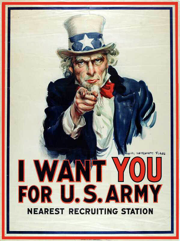 "World War I recruitment poster - ""I Want You for U.S. Army"""