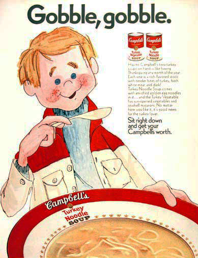 Campbell's Soup 1970 thanksgiving ad