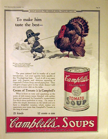 Campbell's Soup 1923 thanksgiving ad