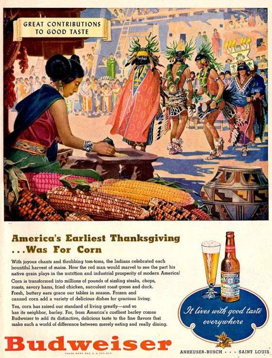 Budweiser 1947 Thanksgiving ad