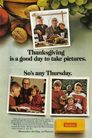 Kodak 1968 Thanksgiving ad