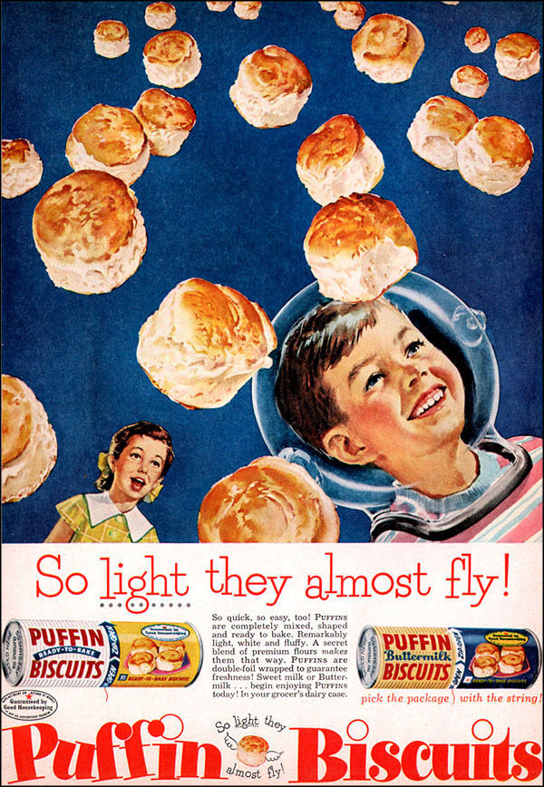 Puffin Biscuits Ad, 1956