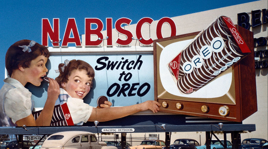 Beautiful Billboards #2: Oreo Cookies, 1950s