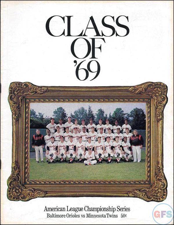Baltimore Orioles ALCS Scorecard - 1969