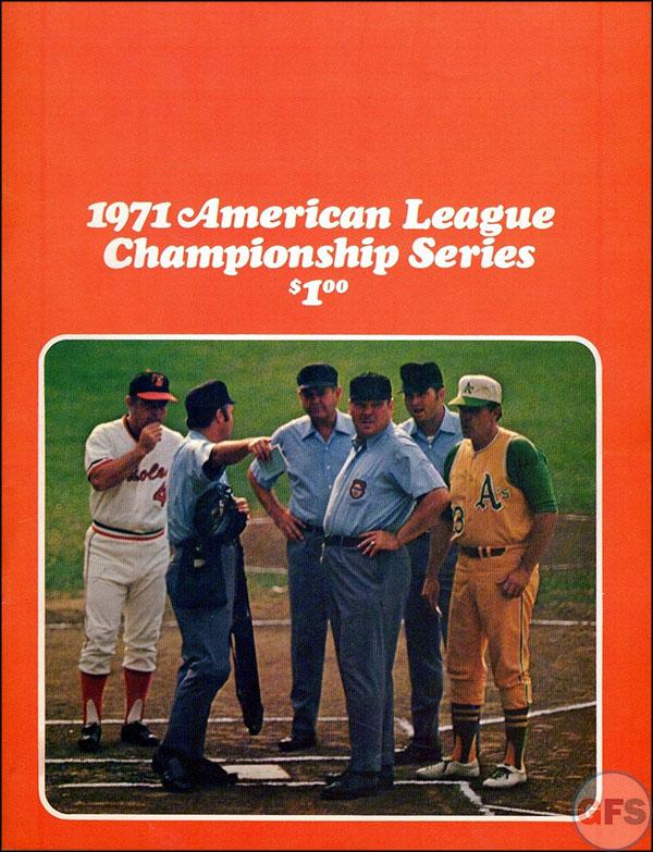 Baltimore Orioles ALCS Scorecard - 1971
