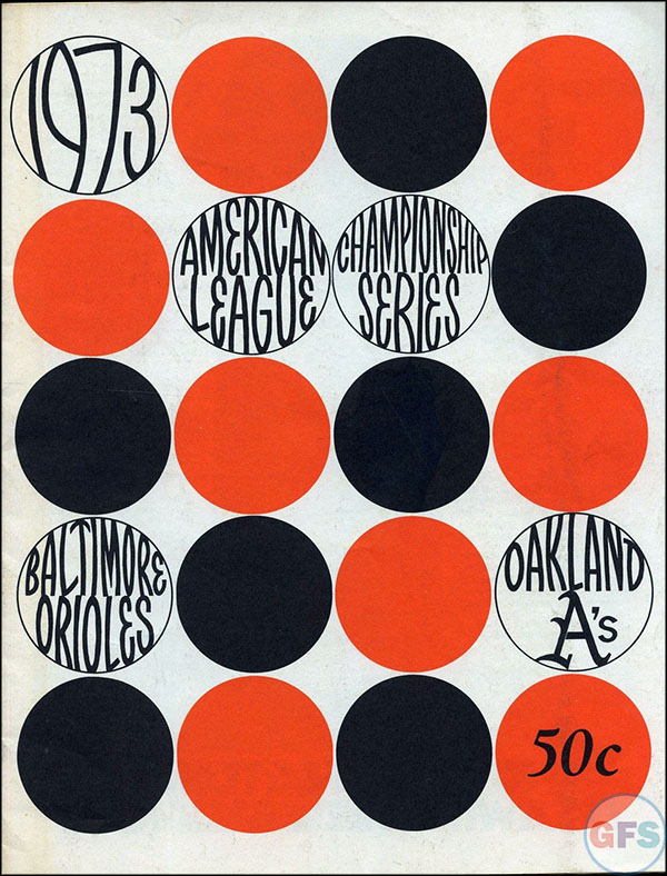 Baltimore Orioles ALCS Scorecard - 1973