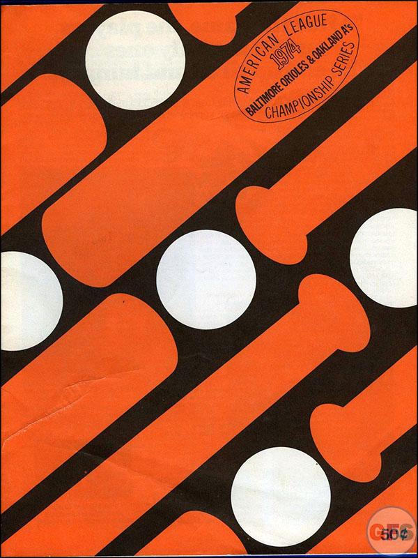 Baltimore Orioles ALCS Scorecard - 1974