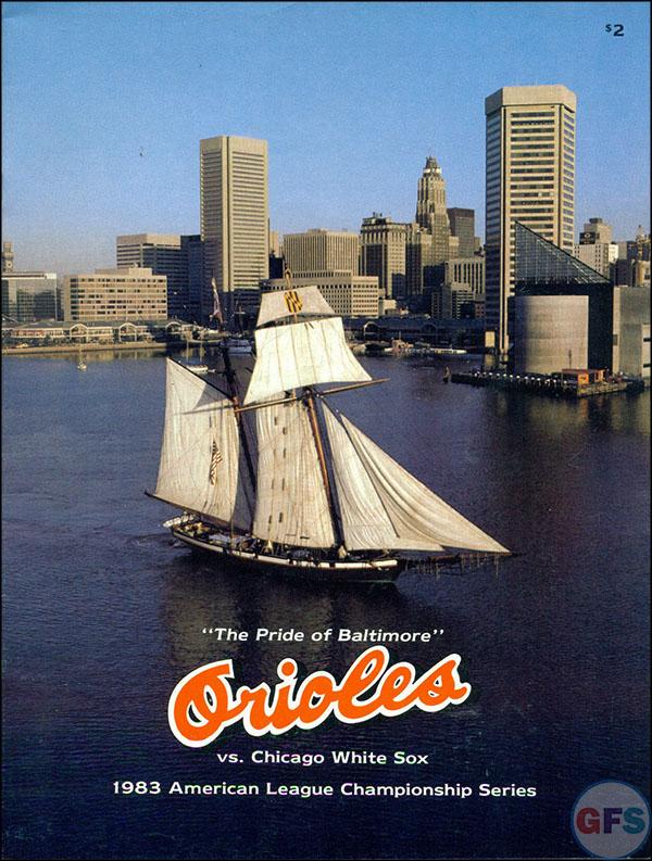 Baltimore Orioles ALCS Scorecard - 1983