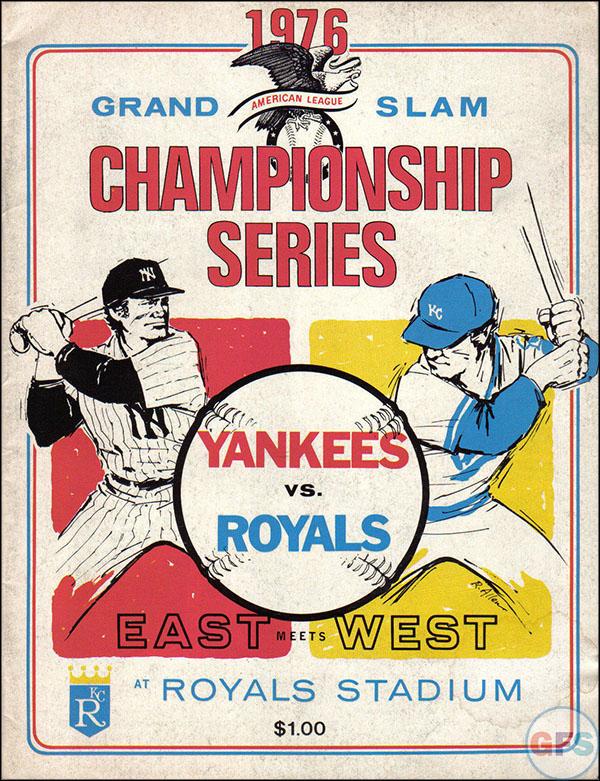 Kansas City Royals ALCS Scorecard - 1976