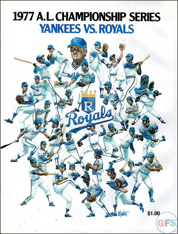 Kansas City Royals ALCS Scorecard - 1977