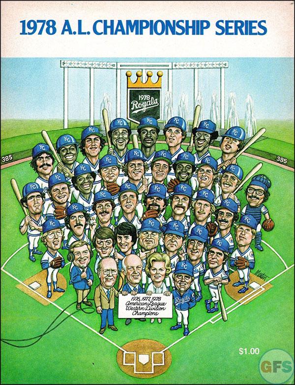 Kansas City Royals ALCS Scorecard - 1978