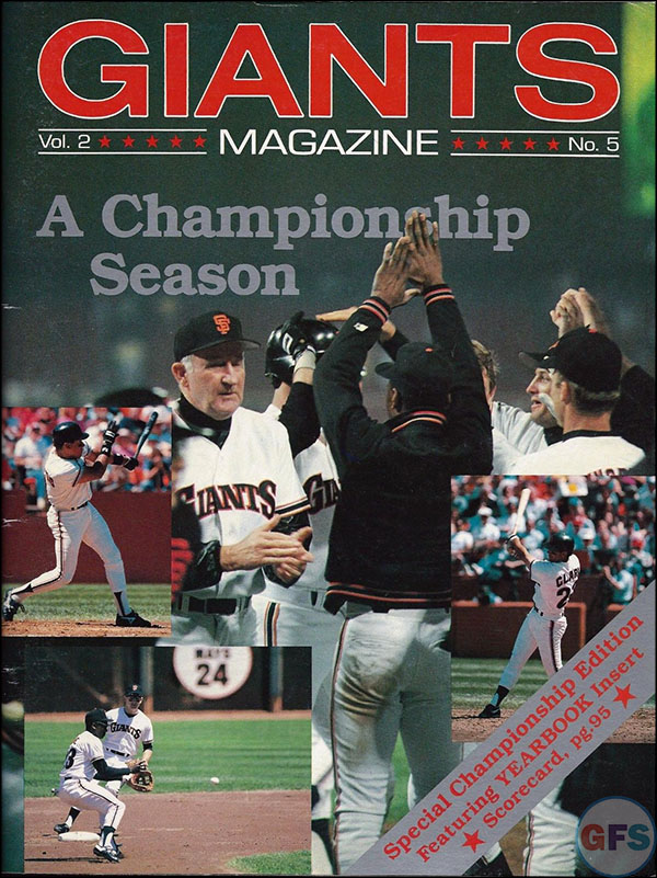 San Francisco Giants NLCS Program - 1987