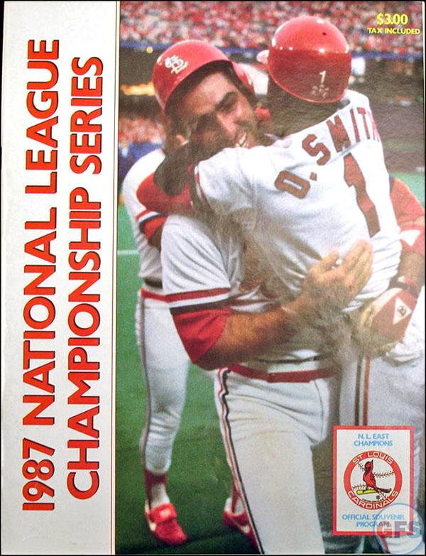 St. Louis Cardinals NLCS Program - 1987