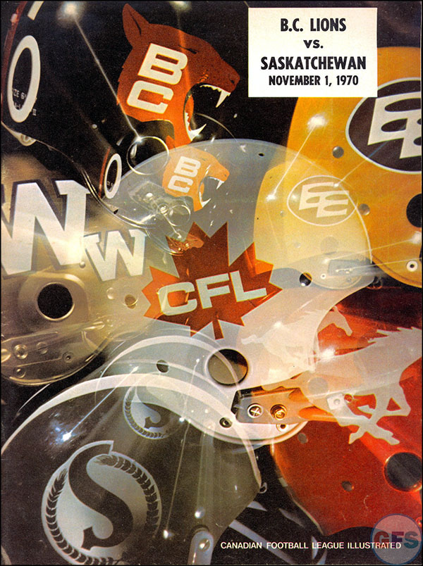 CFL Program: 11/1/1970, BC v. Saskatchewan
