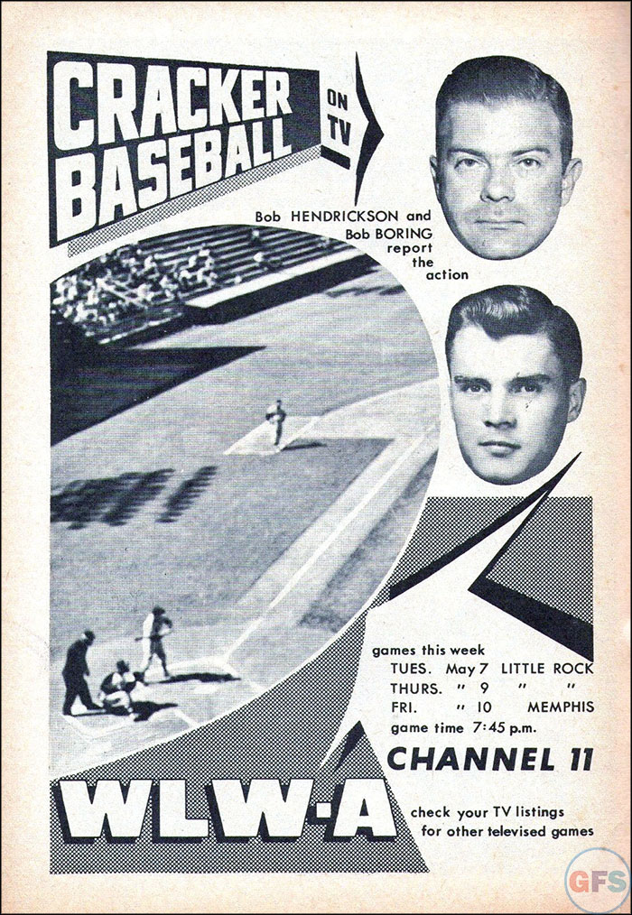 WWLA Cracker Baseball Ad, 1957