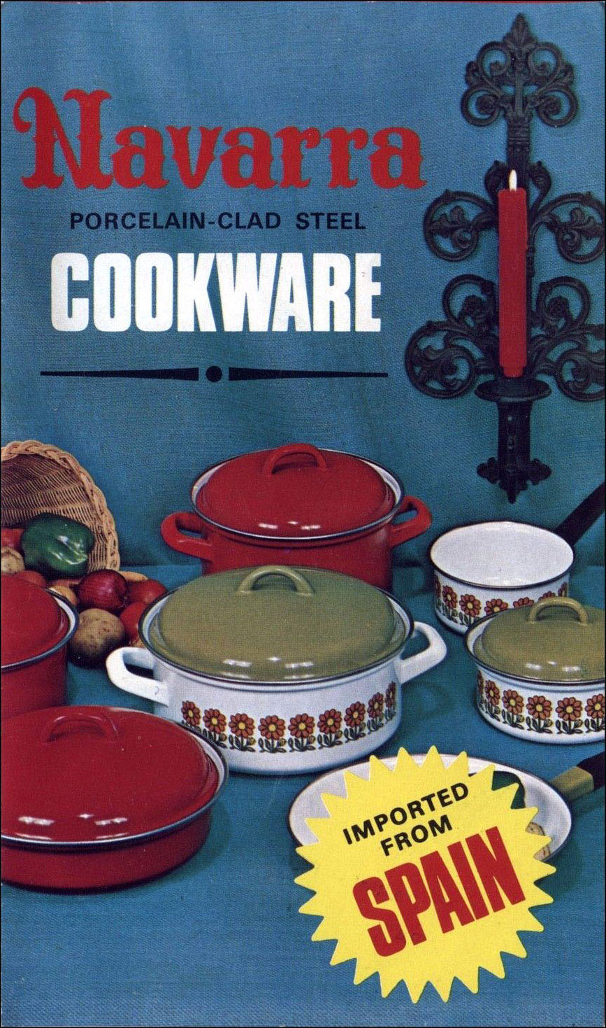 Navarra Porcelain-Clad Steel Cookware Advertising Brochure