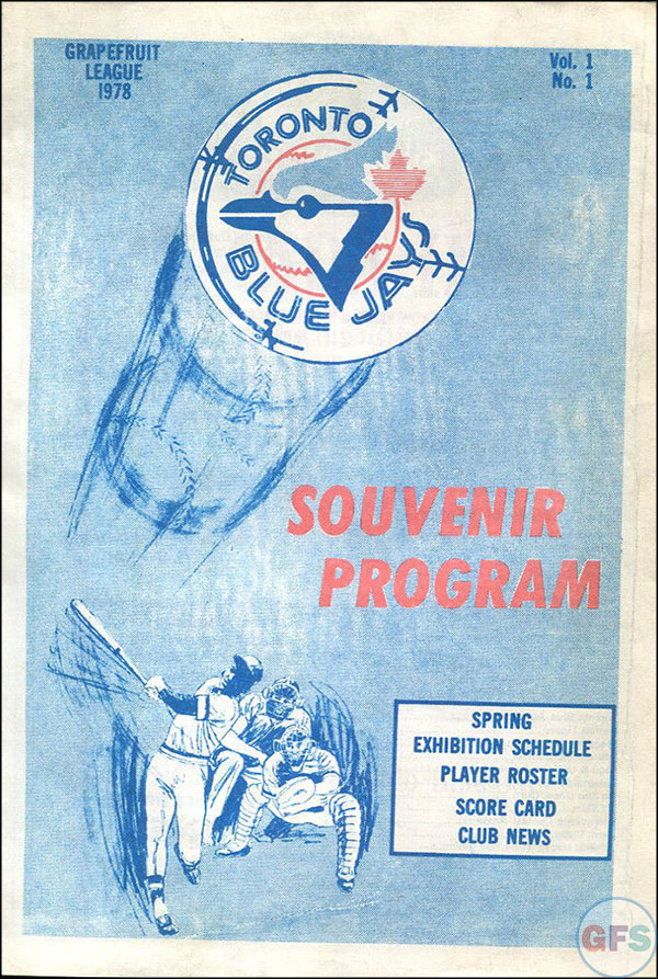 1978 Toronto Blue Jays Scorecard/Program