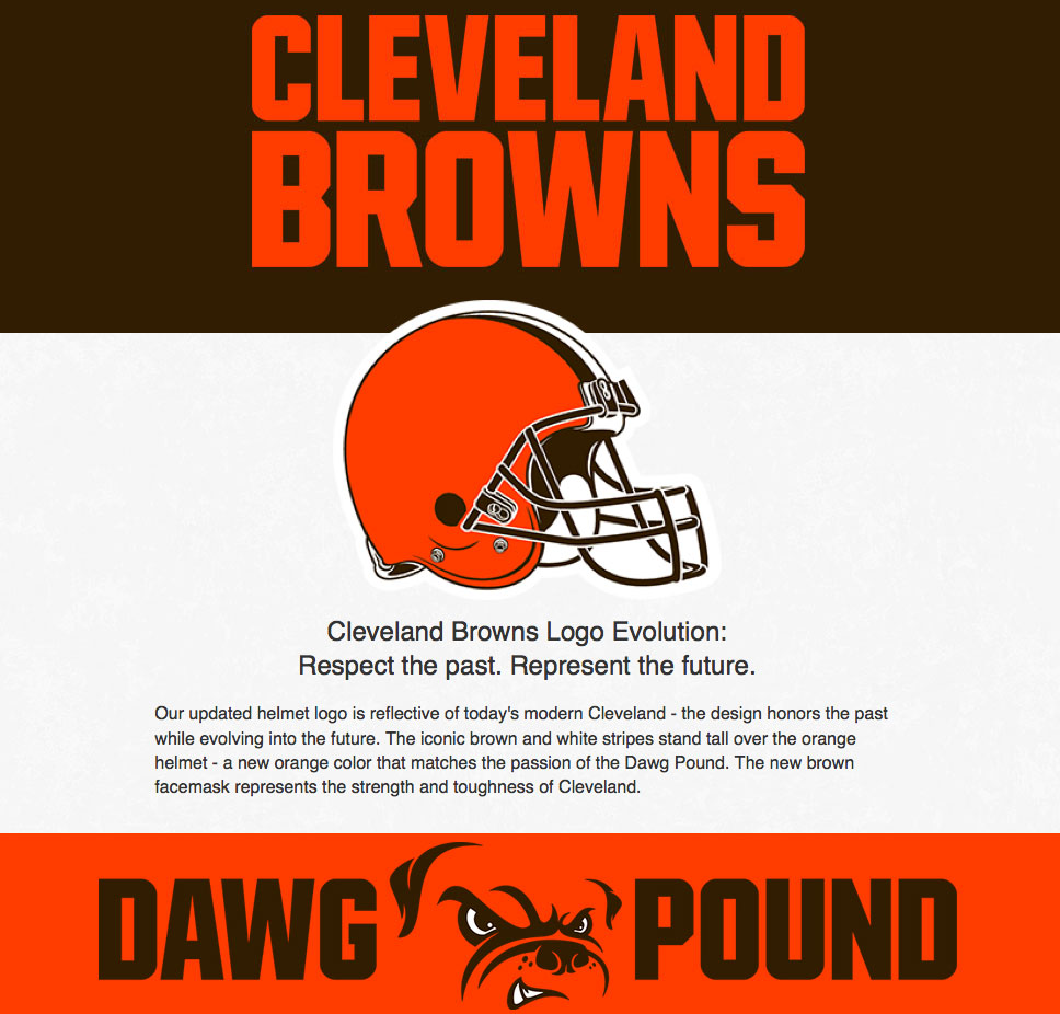 New 2015 Cleveland Browns logo