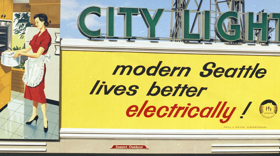 Beautiful Billboards #3: Seattle City Light, 1968