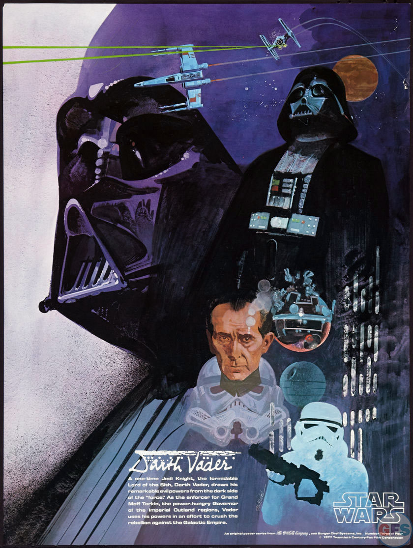Darth Vader Star Wars/Burger Chef Poster (1977)
