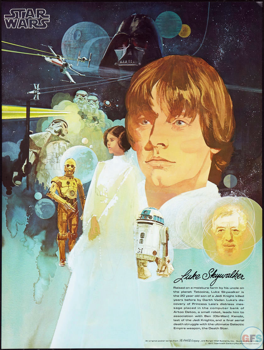 Luke Skywalker Star Wars/Burger Chef Poster (1977)