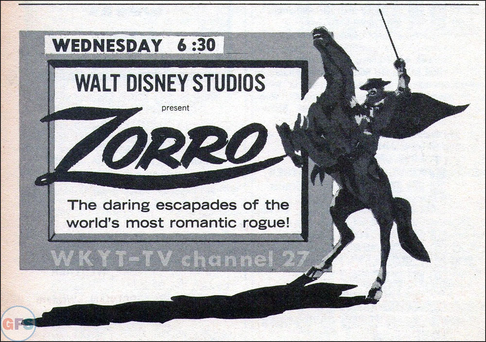1967 Zorro TV Guide ad
