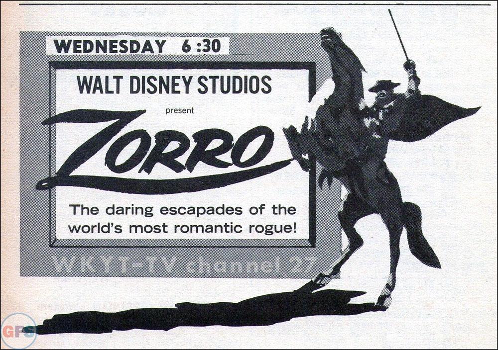 1967 Zorro TV Guide ad