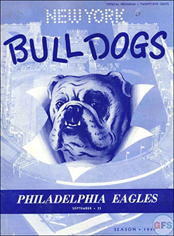 New York Bulldogs vs. Philadelphia Eagles (September 22, 1949)