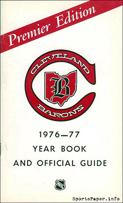1976-77 Cleveland Barons Media Guide
