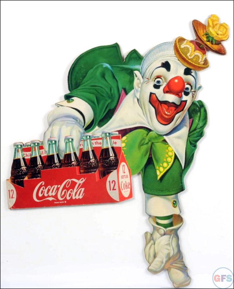 vintage-coca-cola-ad-1950s-1960s-clown