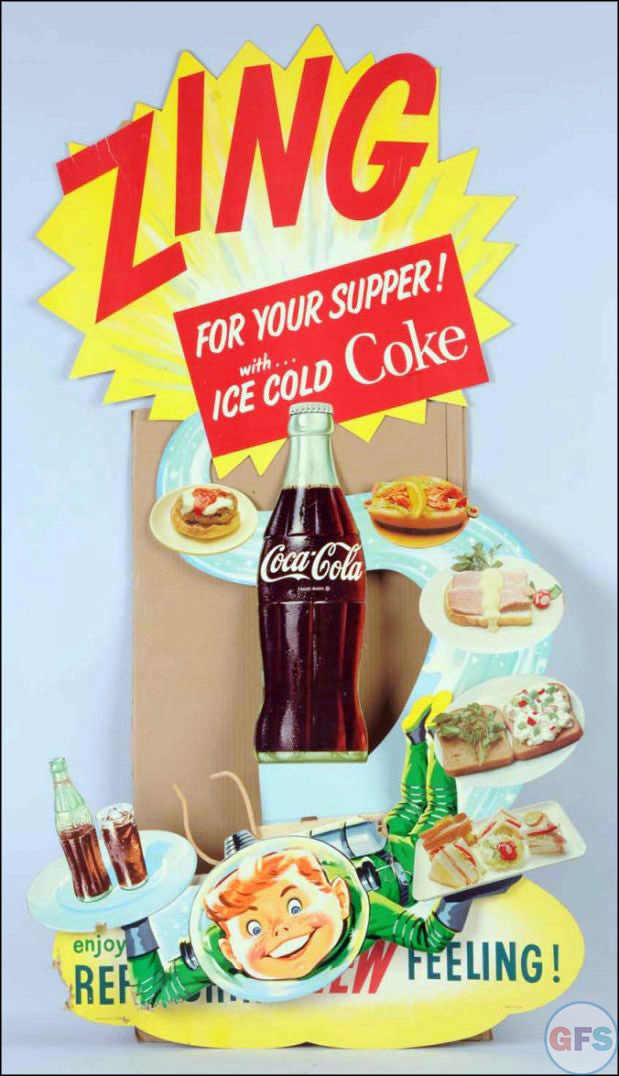 Vintage Coca-Cola advertising from the 1950s and 1960s - food