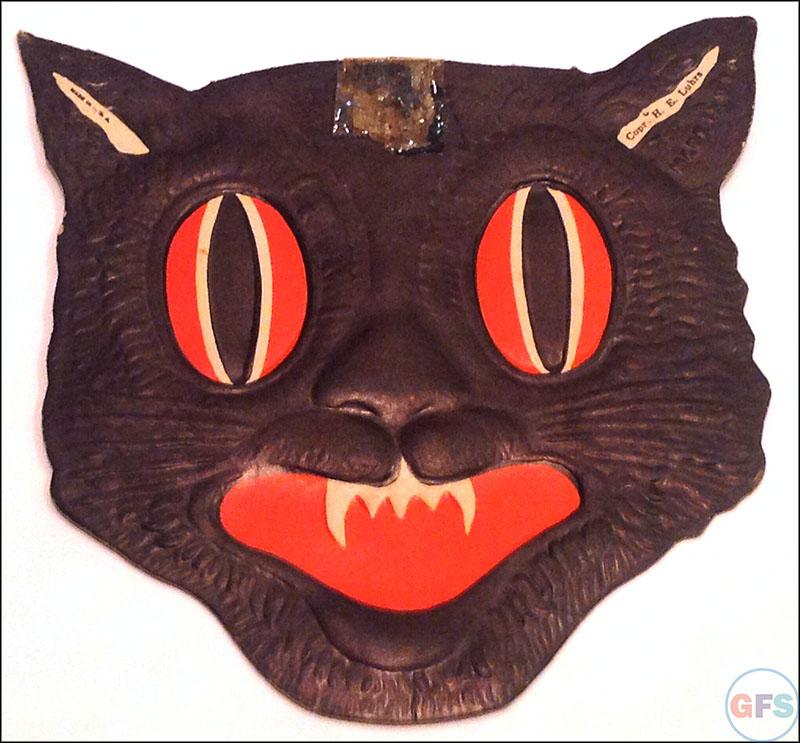 Vintage Beistle Halloween decoration - black cat