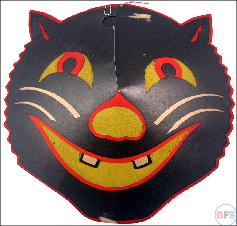 Vintage Beistle Halloween decoration - smiling cat