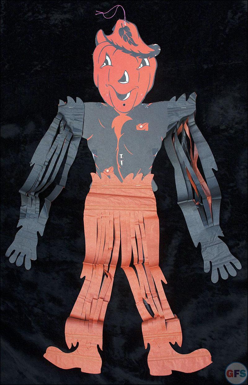 Vintage Beistle Halloween decoration - scarecrow