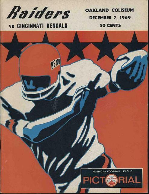 1969 CINCINNATI BENGALS AFL program