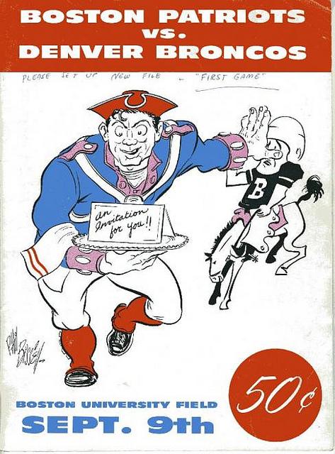 AFL program 1960-09-09 - Patriots vs. Broncos