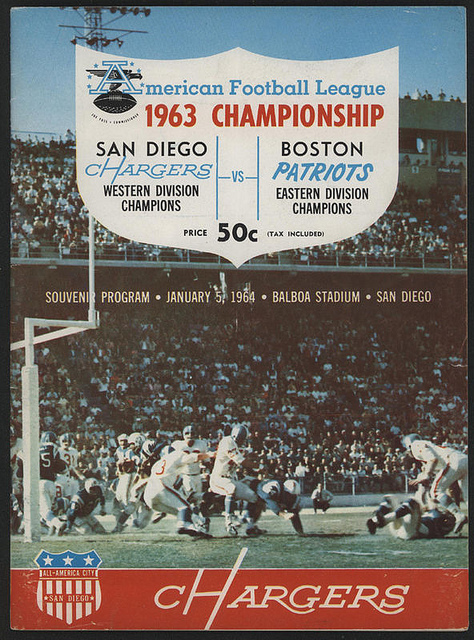 AFL program 1964-01-05 - Patriots vs. Chargers