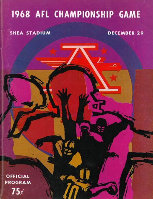 AFL program 1968-12-29 - Raiders vs. Jets