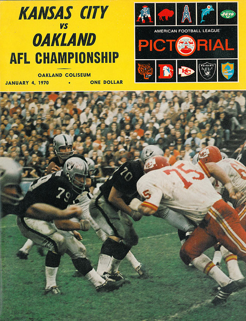 AFL program 1970-01-04 - Chiefs vs. Raiders