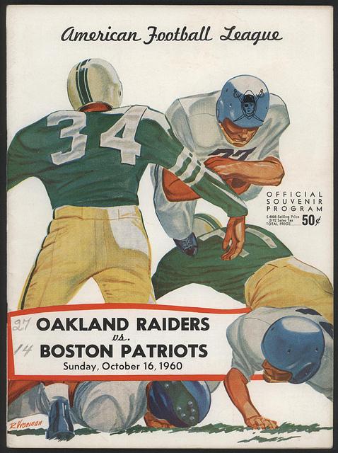 AFL program 1960-10-16 - Raiders vs. Patriots