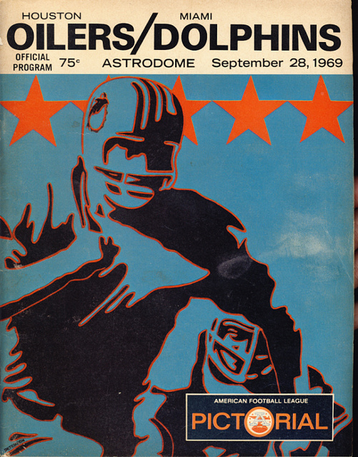 AFL program 1969-09-28 - Dolphins vs. Oilers