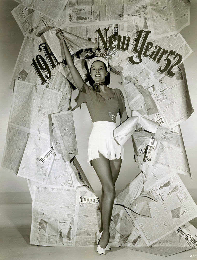 Cyd Charisse New Year's Eve pinup 1951