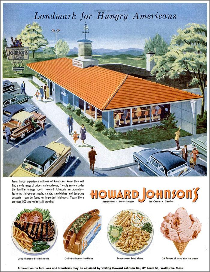 Howard Johnson's ad, 1955