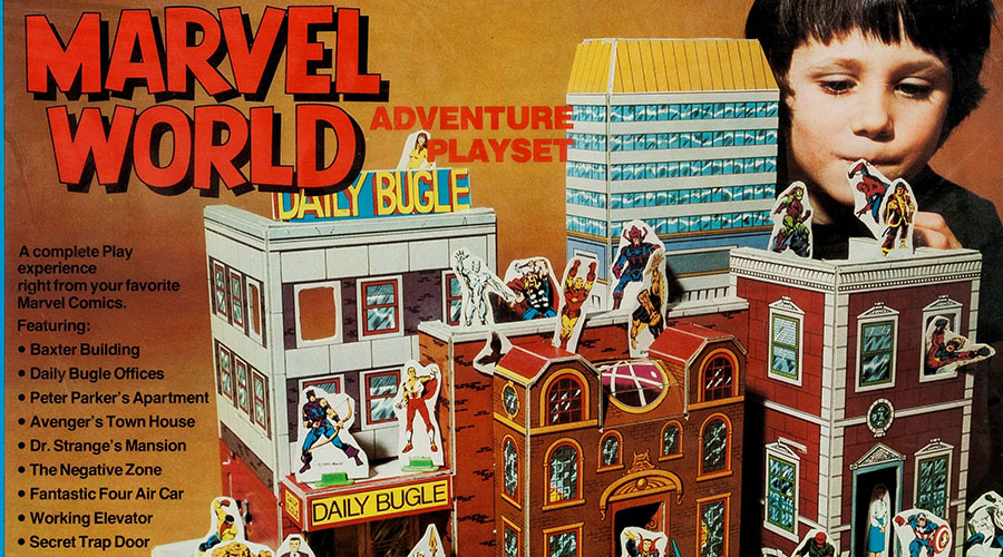 Vintage Tabletop Marvel World Adventure Playset 1975