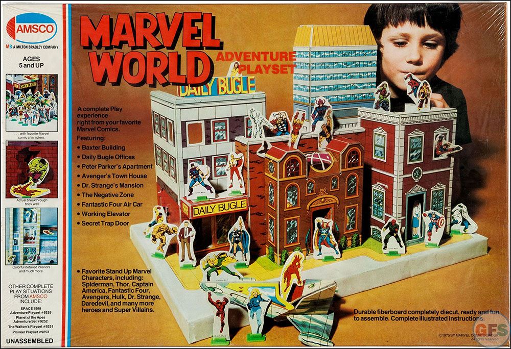Marvel World Adventure Playset (Amsco, 1975)